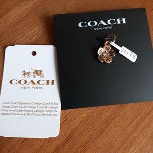 Coach Tea Rose Jewelry Charm Rose Gold